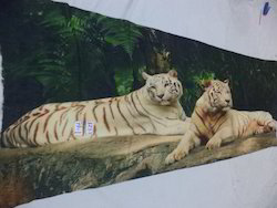 Soft Woolen Tiger Digital Printed Shawls