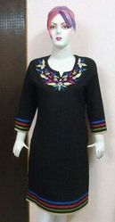 Neck Embroidery Tops