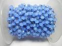 Blue Chalcedony 6mm Gemstone Beaded Chain