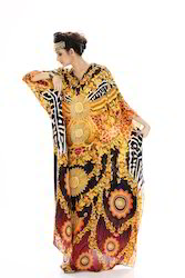 Digitally Printed Silk Kaftan