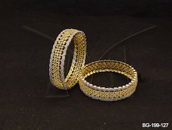 Broad Style Engraved Bridal AD Bangles