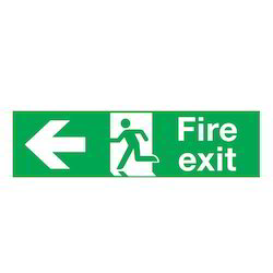 Rigid Sheet Green Directional Signage
