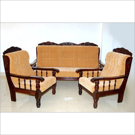 Superior Luxury Wooden Sofa Set