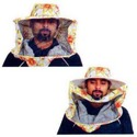 Printed Designer Bee Protective Hat and  Veil Combo