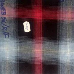 NGCOBWEBFLAT Indigo Yarn Dyed Checks Fabric