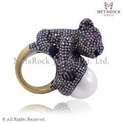 Ruby Gemstone 14k Gold Liopard Ring
