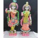 Divine Marble Radha Krishna Statue