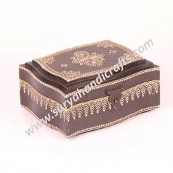 Wooden Box With Panit