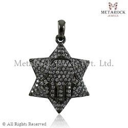 Star Shape Diamond Charm Pendant