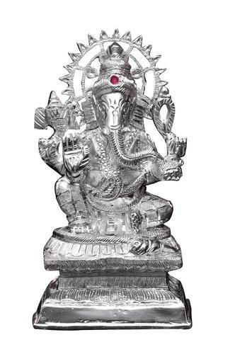 White Metal Silver Lord Ganesha Idol Rs 100 Unit Mangal Gift