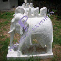 Makrana Marble  Elephant Statue