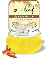 Green Leaf Aloe Face Wash Gel, Pack Size: 120 Gms, for Personal