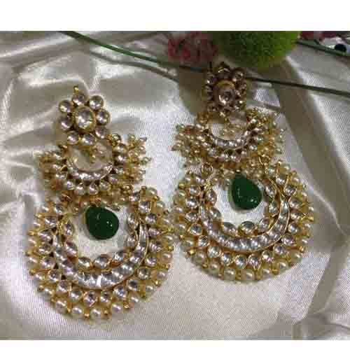 Indian Pearl Earringshandmade Gold Plated Bridal Jewelry at Rs 4800