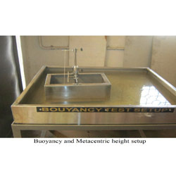 Bouyancy and Metacentric Height Set Up