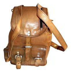 Genuine Leather Retro Rucksack Backpack
