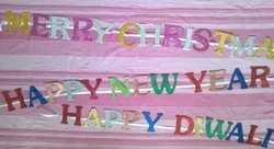 Glitter Powder Foam Letters for Banners