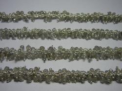 Labradorite Wire Wrapped Gemstone Cluster Chain