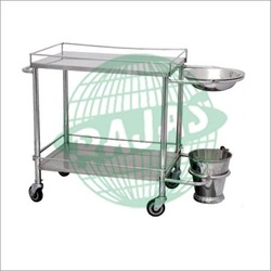 Dressing Trolley with SS Bowl, Size: 30x20x32 Inches