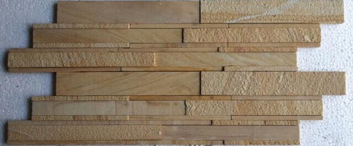 Teak Sand Stone Wall Cladding Panel