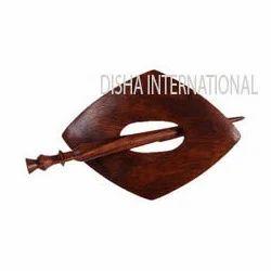 Rose Wood Shawl Pin