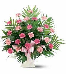 Classy Pink Flower Baskets
