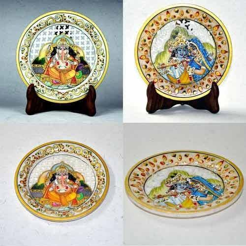 Religious Painting On Marble Plates - Desk Decorative