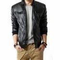 Mens Full Sleeves Leather Jacket MSG 0005