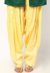 Plain Patiala Salwar In Lemon Yellow