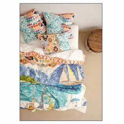 Embroidered Cotton Designer Bed Sheets, Size: 274*274cm