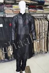 Black Mens Kurta Pyjamas