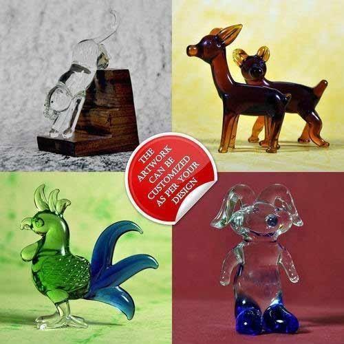 Komoli Glossy Glass Figurines - Animals - Handmade Custom Designs