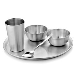 Stainless Steel Dinner Set Economy  sc 1 st  IndiaMART & Stainless Steel Dinner Set Economy