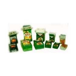 Lined Ceka Printed Cartons with foil pouch for masala milk powders etc