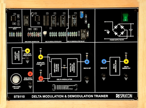 Delta Modulation And Demodulation Trainer St8110