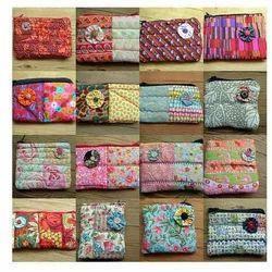 Cotton Fabric Stylish Pouches