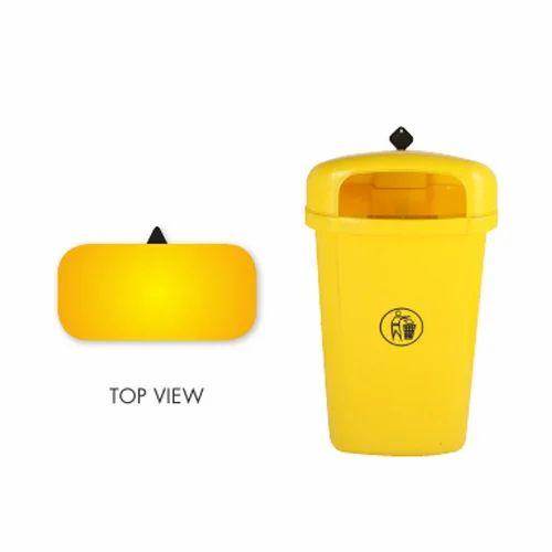 Large Plastic Dustbin, Size/Dimension: 400(l) X 360(d) X 795(h) (mm)