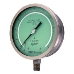Baumer SS Case Test Gauge (ACC   0.25%) Bourdon Type