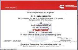 Cummins Certificate