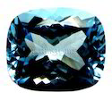 Swiss Blue Topaz Faceted Cushion Gemstone