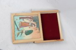 Pine Wood Gem Stone CD Box