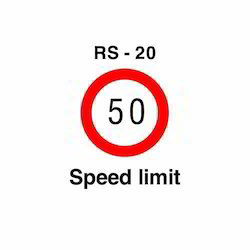What are some shapes of speed limit signs around the world?