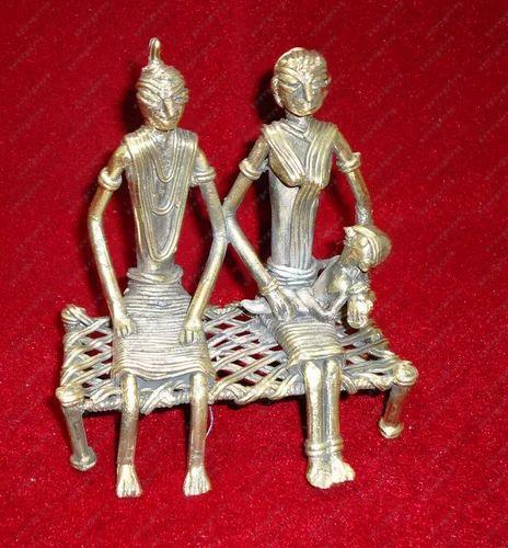 Trible Couple Sitting Metal Handicrafts Handicraft Shop India