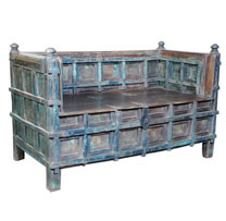 Wooden Old Pitara Sofa