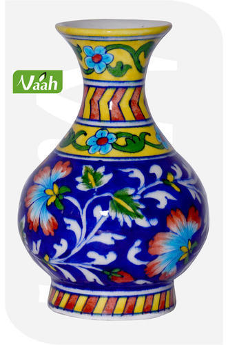 Vaah Ceramic Jaipur Blue Pottery Vase At Rs 300 Piece