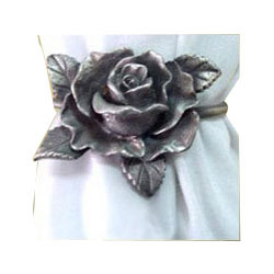 Aluminum Rose Napkin Ring