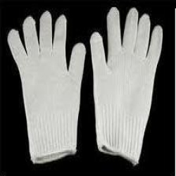 White Knitted Hand Protector Glove
