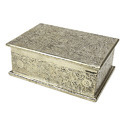White Metal Jewelry Box