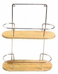 Ss & Wood Bath Shelf, For Home