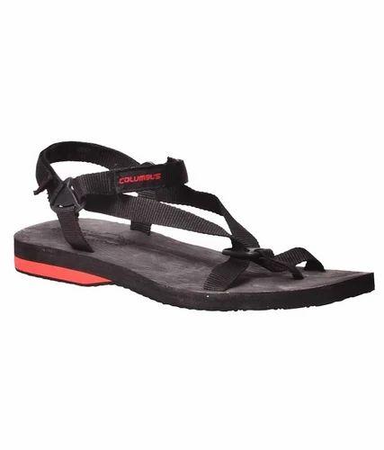 0d38425d0 Men s Footwear - Columbus Black Mesh Textile Sandals For Men ...