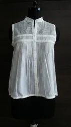 Cotton Plain Voile Shirt, Size: S, M & L
